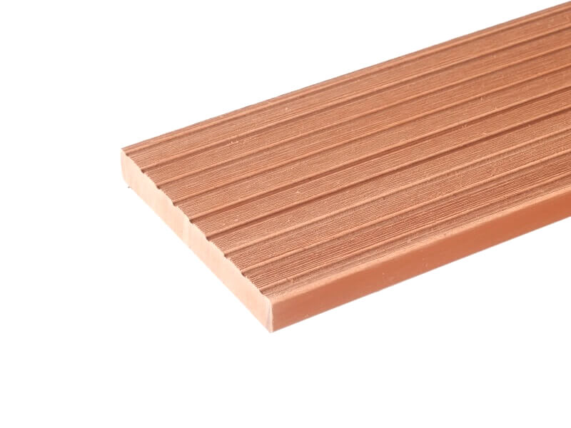 Solid deck cedar groef